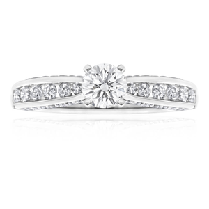 18ct White Gold 'Anita' Ring With 1 Carat Of Diamonds