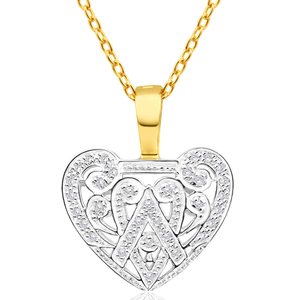 9ct Yellow Gold Delightful Diamond Pendant