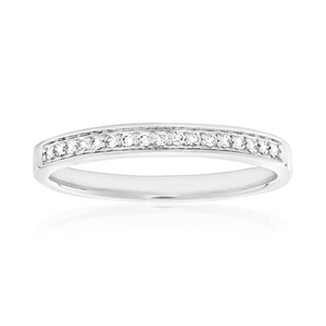 9ct White Gold Impressive Diamond Ring
