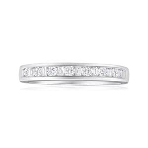 Diamond Eternity Ring in 9ct White Gold (TW=30pt)