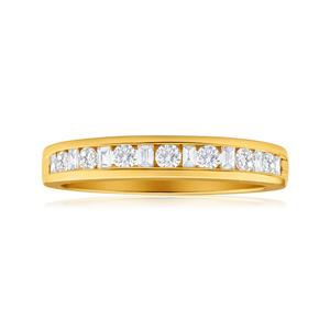 Diamond Wedding Ring in 18ct Yellow Gold (TW=30pt)