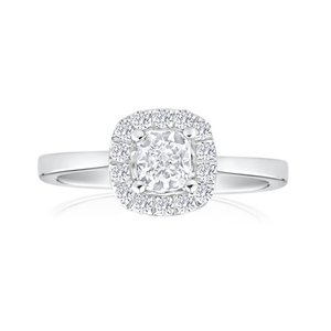 Platinum Ring With 0.75 Carats Of Diamonds