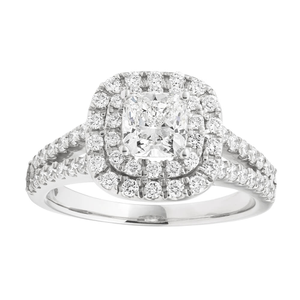 Platinum Ring With 2 Carats Of Diamonds