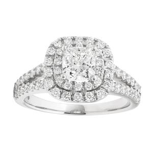 Amoretta Diamond Solitaire Ring in Platinum (TW=2CT)