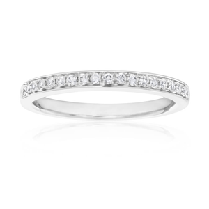 18ct White Gold Ring With 0.25 Carats Of Channel Set Diamonds