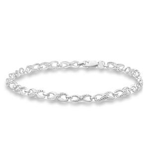 9ct Alluring White Gold Diamond Fancy Bracelet