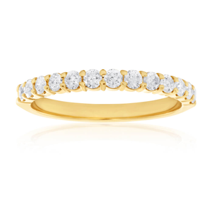 18ct Yellow Gold 'Chloe' Ring With 0.5 Carats Of Diamonds