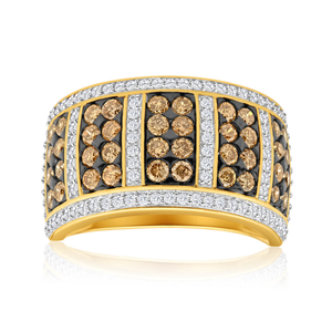 Australian Diamond 9ct Yellow Gold DiamondCocktail Ring