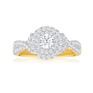 Diamond Engagement Ring in 18ct Gold (TW=1CT)