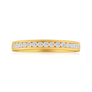 18ct Yellow Gold Ring With 0.25 Carats Of Brilliant Cut Diamonds