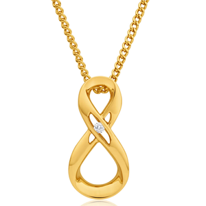 9ct Yellow Gold Impressive Diamond Pendant
