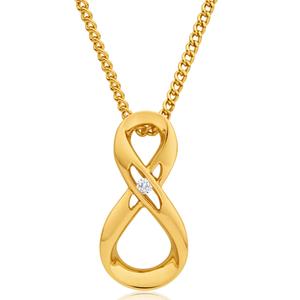 9ct Yellow Gold Impressive Diamond Pendant