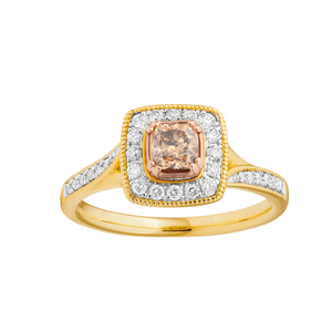 10ct Yellow Gold Ring With 0.75 Carats Of Australian Diamonds