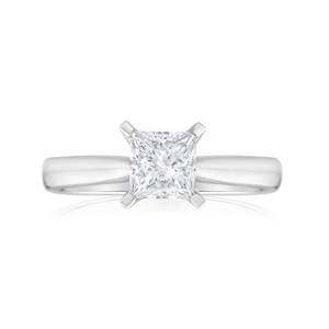 18ct White Gold 'Elicia' Solitaire Ring With 1 Carat Certified Diamond