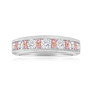 Pink Diamond 18ct White Gold Diamond Ring
