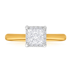 Diamond Engagement Ring in 18ct Two Tone Gold (TW=1CT)