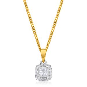 "9ct Yellow Gold Diamond ""Premiere"" Pendant"