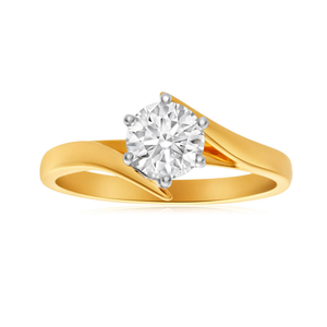 18ct Yellow Gold Solitaire Ring With 1.04 Carat ADGL Certified Diamond