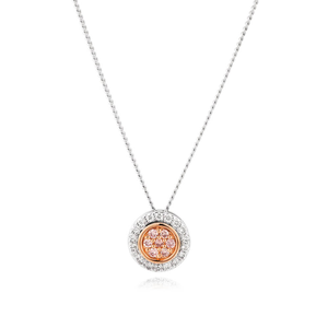 Pink Diamond 18ct White Gold Diamond Pendant