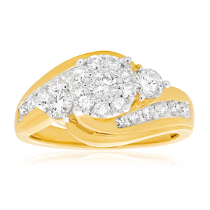 9ct Yellow Gold GI Colour Diamond Ring
