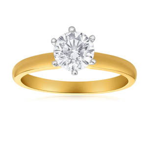 18ct Yellow Gold 1.00 Carat Australian Diamond Solitaire