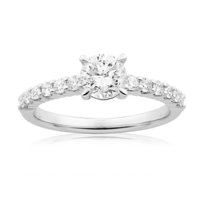 18ct White Gold Ring With 1 Carat Of Brilliant Cut Diamonds