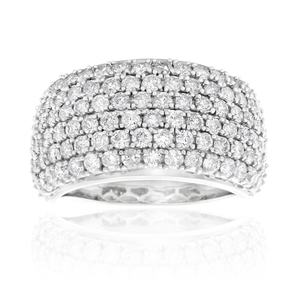 "9ct White Gold Diamond ""Adriana"" Ring"