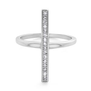 9ct White Gold Diamond Ring Set With 16 Brilliant Diamonds