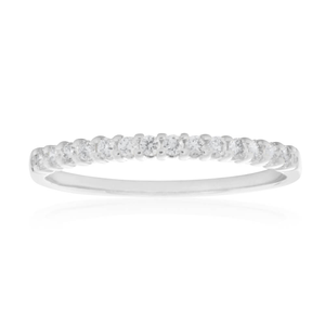 18ct White Gold 'Eden' Ring With 0.15 Carats Of Diamonds