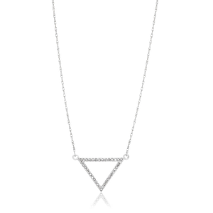 9ct Superb White Gold Diamond Pendant With 45cm Chain