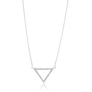 9ct Superb White Gold Diamond Pendant With 45cm Chain