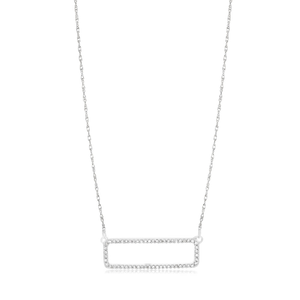 9ct Gorgeous White Gold Diamond Pendant With 45cm Chain