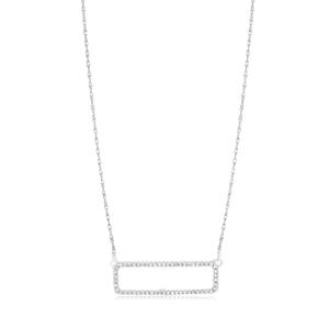 9ct Gorgeous White Gold Diamond Pendant With 45cm Chain