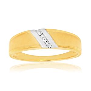 9ct Yellow Gold Diamond Promotional Ring