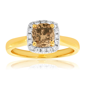 9ct Yellow Gold Ring With 1.1 Carats Of Australian Diamonds