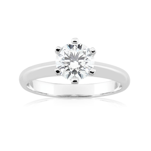 18ct White Gold 0.50 Carat Solitaire