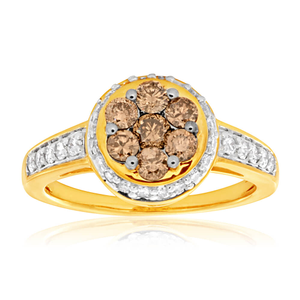 Australian Diamond 9ct Yellow Gold Diamond Ring (TW=1CT)