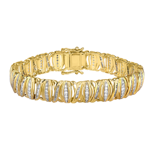 9ct Yellow Gold Enticing 2.5 Carat Diamond Bracelet