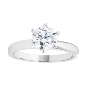 18ct White Gold 'Eden' Solitaire Ring With 1 Carat Certified Diamond