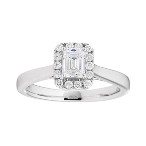 14ct White Gold Ring With 65 Points Of Diamonds