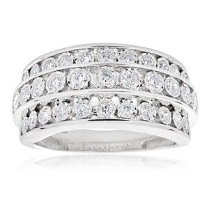 3/4 Carat Diamond Ring in 9ct White Gold