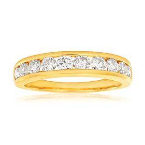 Diamond Eternity Ring in Yellow Gold (TW=1CT)