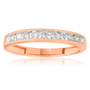 9ct Rose Gold 'Eternity' Ring With 0.5 Carats Of Diamonds