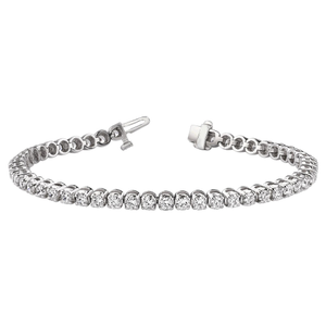 9ct White Gold 1 Carat Diamond 17.5cm Bracelet