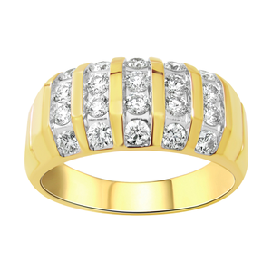 9ct Yellow Gold Diamond Ring Set with 20 Stunning Brilliant Diamonds