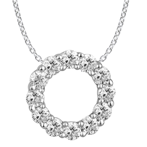 9ct Alluring White Gold Diamond Pendant With 45cm Chain