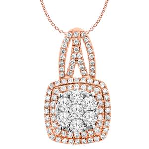9ct Rose Gold Diamond Pendant