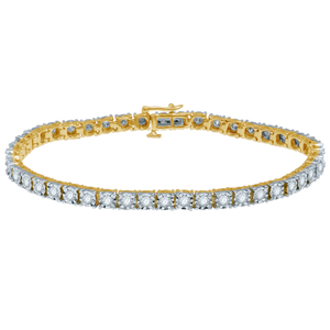9ct Yellow Gold Magnificent Diamond Bracelet