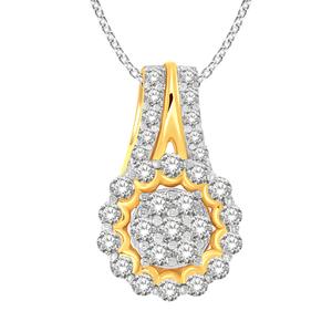 9ct Yellow Gold 1/2 Carat Diamond Pendant On 9ct 45cm Chain