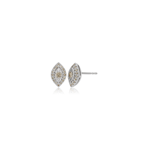 9ct 0.25 Carat Diamond Earrings in White Gold